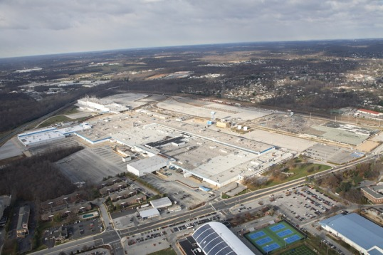 Aerial View of the Chrysler Newark Site