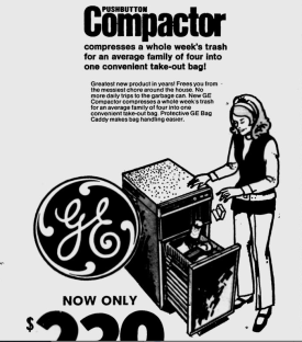 """GE Factory Bargain Days."" Boca Raton News, October 31, 1971."