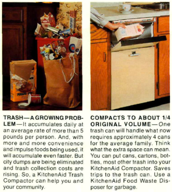 Hobart Corporation. KitchenAid Trash Compactor. (A-681). Hobart Corporation, 198?.