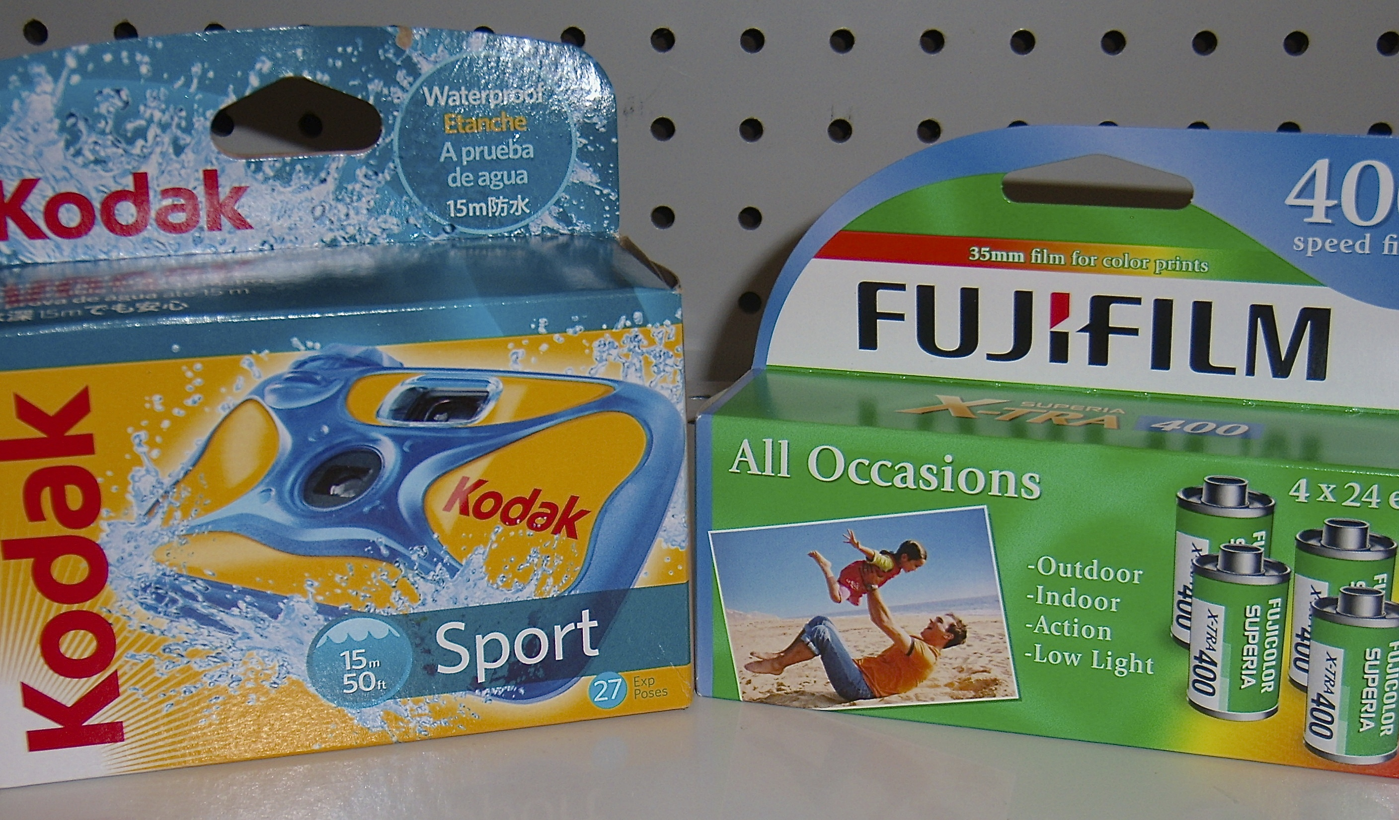 Two Disposable Cameras A Kodak Sport And Fuji Quicksnap For Sale At Walgreens