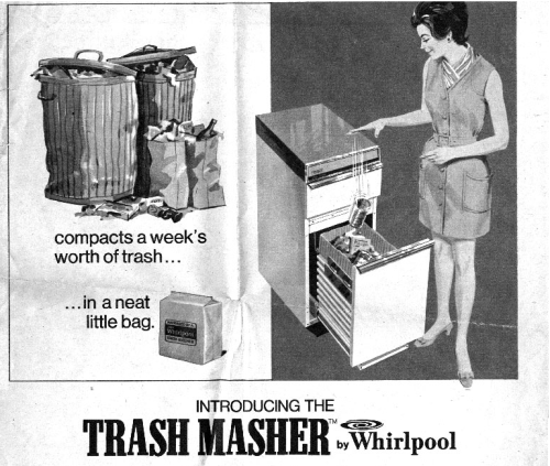 """Introducing the Trash Masher by Whirlpool,"" Boston Sunday Globe, September 30, 1970."