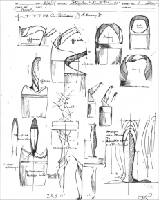 As these drawings show, designers of painting tools considered the needs of users. Technical illustration. Universal Design. 1949. Courtesy of the Hagley Museum and Library, digital collections, Lamb175.jpg.