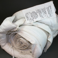 Firefighters Sleeping Bag (M-1981), The Lighthouse for the Blind, Inc, , early 1990s. Polyester non-woven cover, cotton thread and tape, batting. Collection, Katherine C. Grier. This sleeping bag was distributed to fire jumpers in Utah. While it could be washed, it was intended to be left behind.