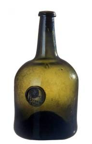 Wine bottle, England, 1765.  Winterthur Museum, 1965.2337