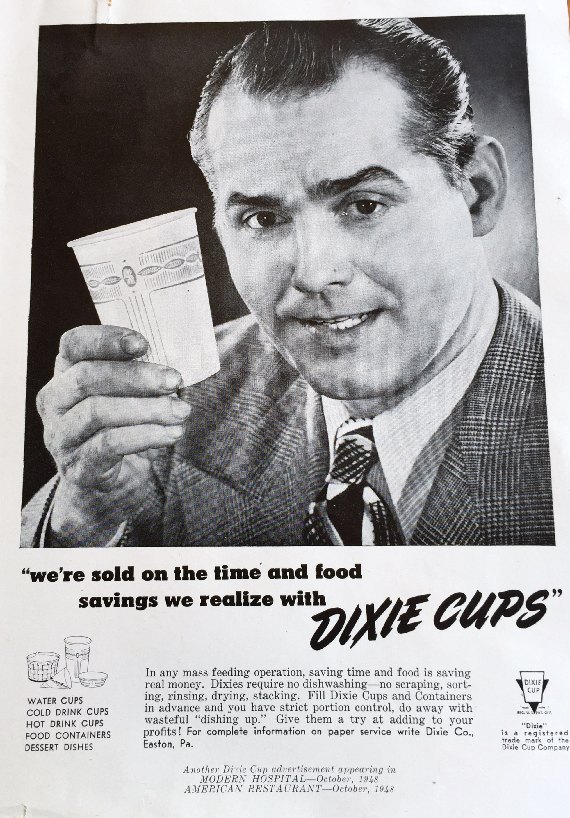V A Dixie For Every Need The Diffusion Of The Paper Cup Disposable America