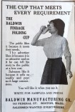 The Baldwin Finback Folding Cup advertisement, 1913. (Hugh Moore Dixie Cup Company Collection, Special Collections and College Archives, Skillman Library, Lafayette College.)