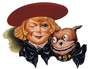 Buster Brown and his dog Tige. Image from Forbes.com.