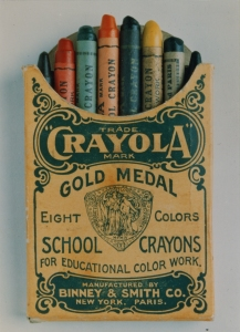 Binney & Smith's original 8 color-pack of Crayola crayons. Image from Binney & Smith Inc. Records, 1897 – 1998. Archives Center, National Museum of American History.