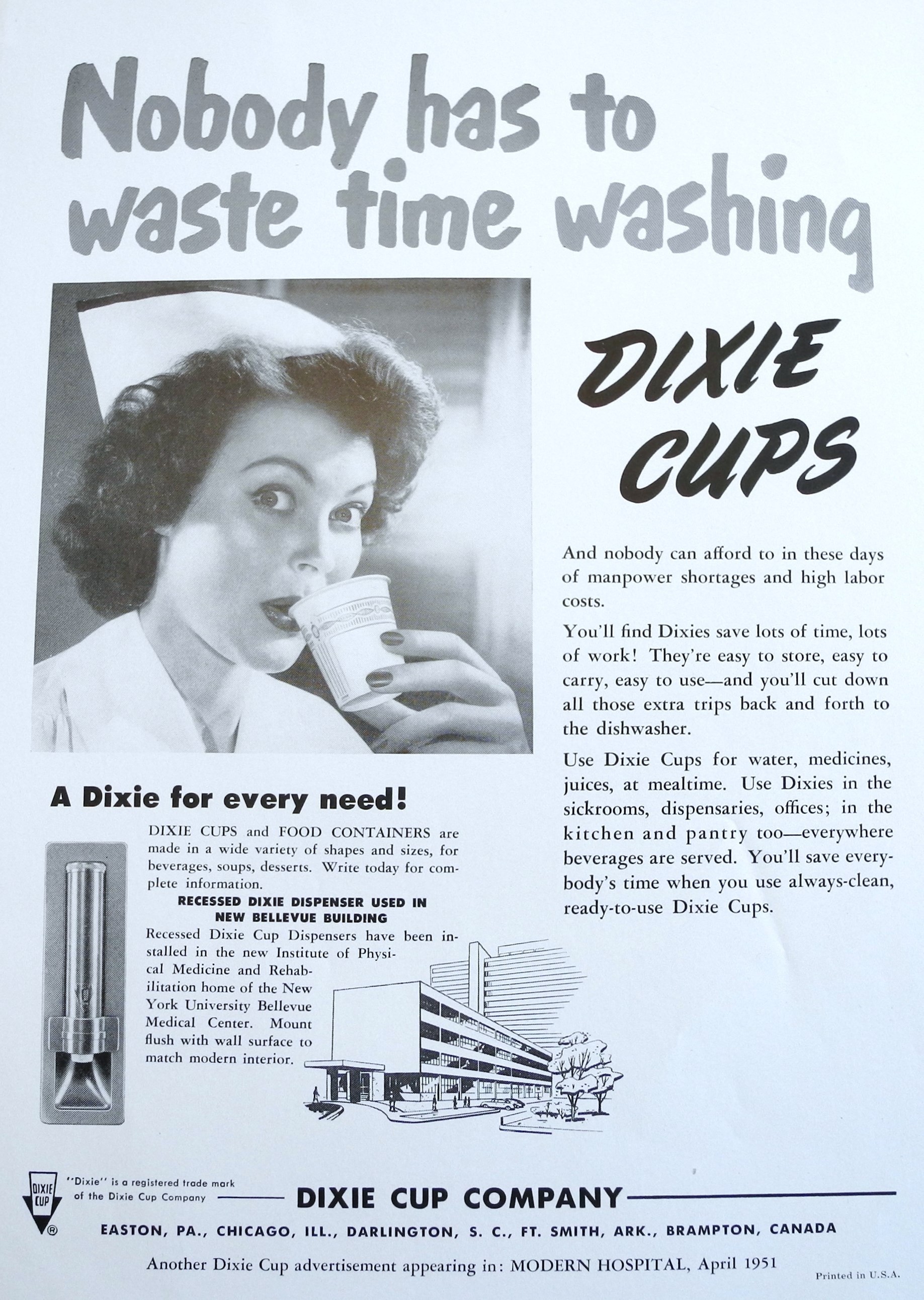 """V: """"A Dixie for Every Need"""" – The Diffusion of the Paper Cup"""