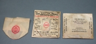 """""""Aseptic"""" Paper Drinking Cups, Aseptic Drinking Cup Co., Cambridge, MA, around 1910. Waxed paper and wire. Collection, Katherine C. Grier. Reflecting public concern about infectious disease, the text on the envelope promotes it as """"health insurance in its cheapest form."""""""