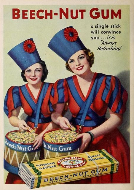 Beech-Nut Gum Advertising Poster, circa 1936. Library of Congress Prints and Photographs Division.