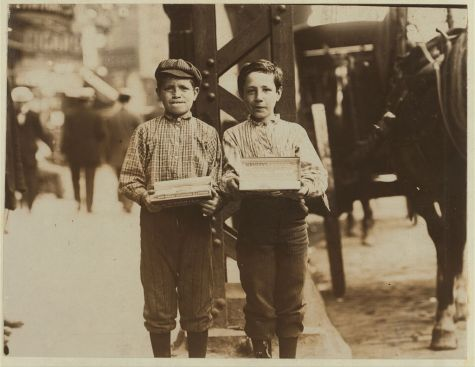 Gum Vendors, Bowery, c.1910, New York City. Photograph by Lewis Wickes Hines, circa 1910. Library of Congress Prints and Photographs Division.