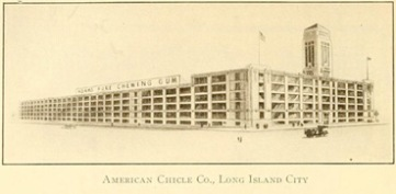 American Chicle Co. Headquarters, Long Island City, Queens Borough, New York City, 1910-1920, Queens Borough Chamber of Commerce. Retrieved from www.archive.org.