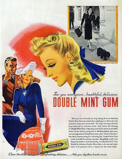 Wrigley's Double Mint Gum - McCall's Magazine, Feb. 1939