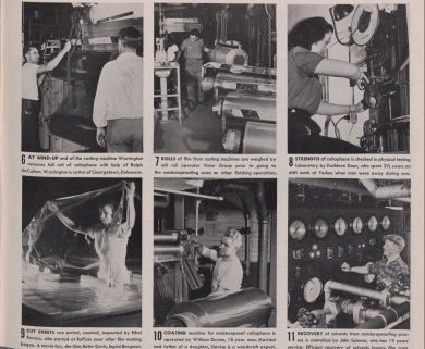 Production process for American cellophane at DuPont continued (Published Collections Department, Hagley Museum and Library, Wilmington, DE 19807).