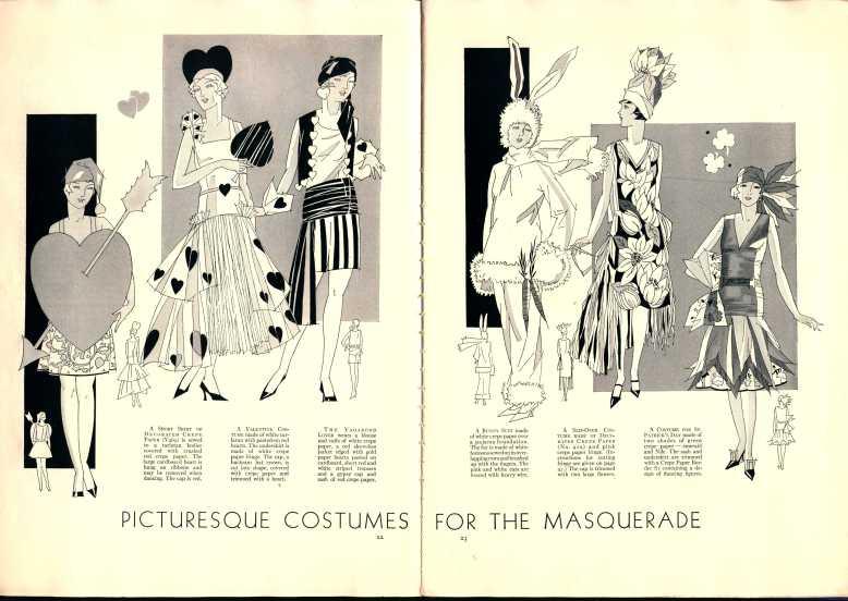 dennison parties, costumes, sleek 1929