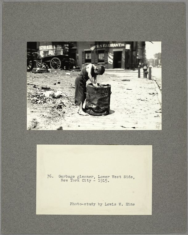 Garbage gleaner, Lower West Side, New York City, 1915
